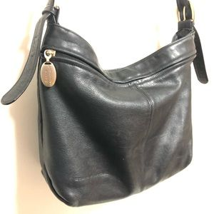 Stone Mountain soft boho black leather slouchy bag